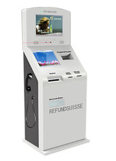 Multi Function Tax Refund Kiosk For International Airports / Tax Free Shops